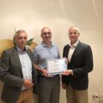 Předávání certifikátu TAB Board, nový franšízant Tomáš Petrů