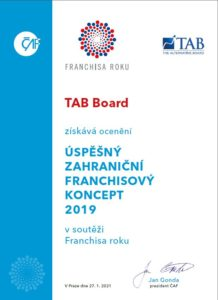 Certifikát Franchisa roku 2019